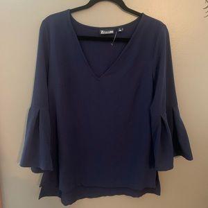 Gorgeous navy blue blouse!